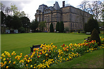 NZ0516 : Bowling green, Bowes Museum by Ian Taylor