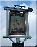 TM2221 : Sign for the Ship public house, Kirby-le-Soken by JThomas