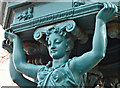 J2664 : Caryatid, the Wallace fountain, Lisburn (April 2017) by Albert Bridge