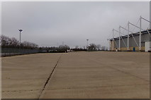 TL1495 : Hardstanding in front of The Peterborough Arena by Adrian Cable