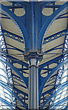 TQ3005 : Column detail, train shed, Brighton Station by Julian Osley