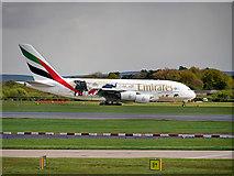 SJ8184 : Airbus A380 at Manchester Airport by David Dixon