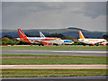 SJ8184 : Queuing for Take-off at Manchester by David Dixon