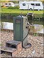 TM3891 : Fuel Pump, Rowan Craft boatyard, Geldeston Dyke by Roger Jones