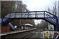 TQ6233 : Footbridge, Wadhurst Station by N Chadwick