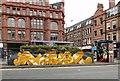SJ8498 : Artwork in Stevenson Square by Gerald England