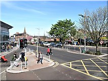 J5081 : Abbey Street from the forecourt of Bangor Train Station by Eric Jones