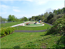 NS3174 : Swingpark at Birkmyre Park by Thomas Nugent
