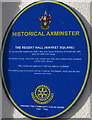 SY2998 : Regent Hall blue plaque, Axminster by Jaggery
