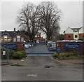 SO5040 : Friars Street entrance to Lord Scudamore Academy, Hereford by Jaggery