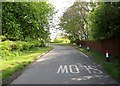 TA1563 : Minor  road  junction  with  A165 by Martin Dawes