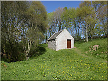 NH5757 : Beside the Preaching Stance, Drummondreach Oak Wood by Julian Paren