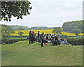 SK5566 : Watching cricket at Welbeck by John Sutton