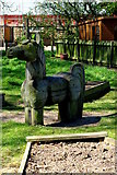 NY4348 : Wooden unicorn by Tiger