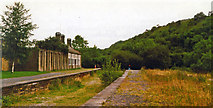 SK1373 : Millers Dale, station remains 1993 by Ben Brooksbank