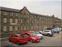 SE0641 : West end of old mill on Low Mill Lane, Keighley by Stephen Craven