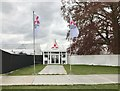 ST8083 : Entrance to hospitality tent at Badminton Horse Trials by Jonathan Hutchins