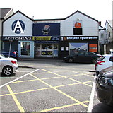 SS9079 : Three shops, Five Bells Road, Bridgend by Jaggery