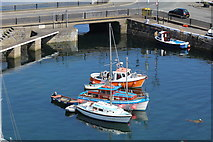 SC2667 : Craft in Castletown outer harbour by Richard Hoare
