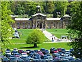 SK2670 : Stable block and parking at Chatsworth House by John M
