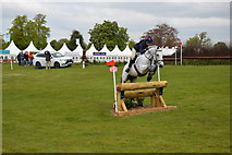 ST8083 : Cross-country jump after the lake at Badminton by Jonathan Hutchins