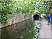 SE0026 : Rochdale Canal and Tunnel Entrance enabling it to pass under a road (A646) by Peter Wood