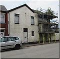 ST3189 : Adelaide Street scaffolding, Crindau, Newport by Jaggery