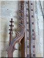 TF3024 : Church of All Saints:  Detail on rood screen by Bob Harvey