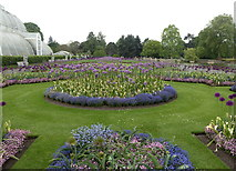 TQ1876 : Flower beds, Kew Gardens by pam fray