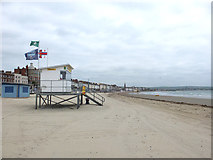 SY6879 : Lifeguard Station on Weymouth Beach by Gary Rogers