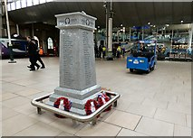 SJ8497 : War Memorial at Piccadilly Station by Gerald England