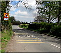ST2938 : Warning sign - no footway for half-a-mile, Chilton Road, Bridgwater by Jaggery