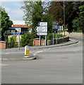 SO8405 : Directions and distances signs on a Stroud corner by Jaggery
