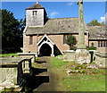 SO6026 : Entrance to St Michael & All Angels Church, Brampton Abbotts, Herefordshire by Jaggery