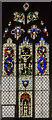 SK8386 : Stained glass window, St Helen's church, Lea by Julian P Guffogg