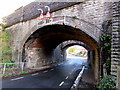 ST1368 : West side of Little Moors Hill arched railway bridges, Barry by Jaggery