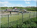 SE2336 : The sewage pumping station next to Rodley Nature Reserve by Humphrey Bolton