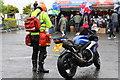 C8238 : Paramedic, paraphernalia, and bike by Des Colhoun