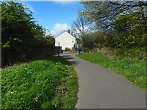 NS4174 : Cycle path approaching the road by Lairich Rig