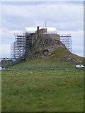 NU1341 : Lindisfarne Castle under a roof (2) by Mac McCarron
