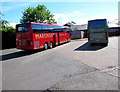 ST3552 : Marchants of Cheltenham Spa coach in Sedgemoor Services Southbound  by Jaggery