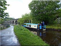 SJ2837 : 'Julia' just starting to traverse Chirk Aqueduct by John Lucas