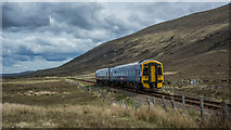 NH0851 : Inverness bound service (158709) in Glen Carron by Peter Moore