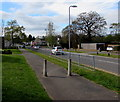 ST3094 : Concrete posts on the pavement alongside Llanyravon Way, Cwmbran by Jaggery