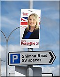 J3731 : DUP (Democratic Unionist Party) Westminster Election Poster on Shimna Road by Eric Jones