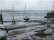 J3829 : Wild waters beyond the entrance to Newcastle Harbour by Eric Jones