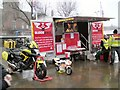 SJ9494 : Blood Bikes on display in Hyde by Gerald England