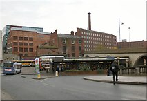 SJ8990 : Entrance to Stockport Bus Station by Gerald England