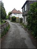 TR1859 : Caen House & Church View, The Drove by John Baker