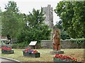 ST5290 : Statue of King Tewdrig at Mathern by Eirian Evans
